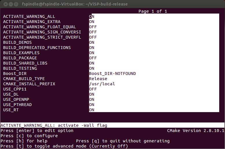 ViSP: Tutorial: Installation from source on Linux Ubuntu