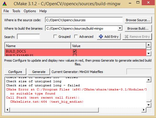 ViSP: Tutorial: Installation from source on Windows 8 1 with Mingw-w64