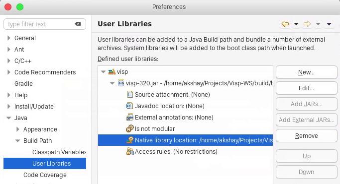 Visual Servoing Platform: Tutorial: Installing ViSP for Java