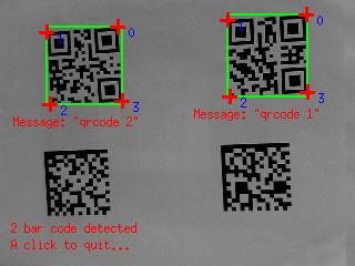 Visual Servoing Platform: Tutorial: Bar code detection