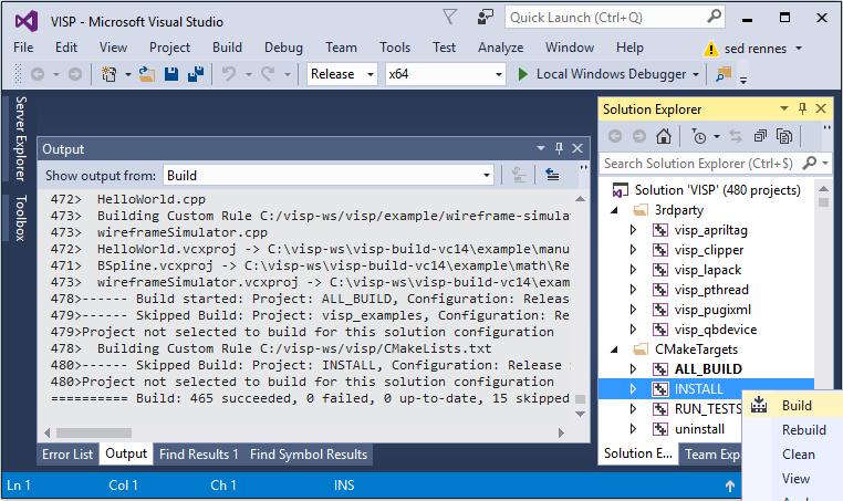 Visual Servoing Platform: Tutorial: Installation from source for