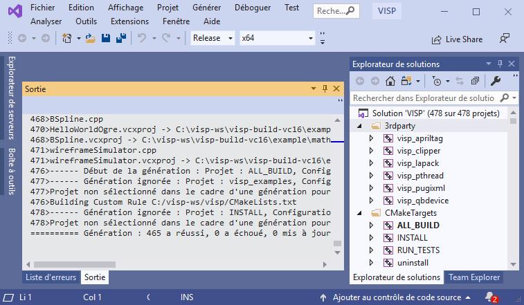 Visual Servoing Platform: Tutorial: Installation from source